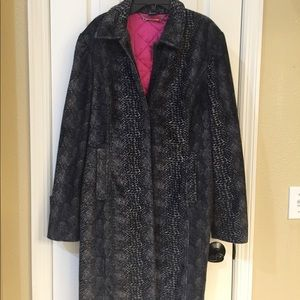 Guess leopard print trench coat with pink lining